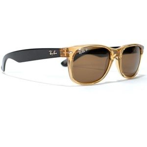 Ray Ban Wayferer Sunglasses With Honey Brown Lens